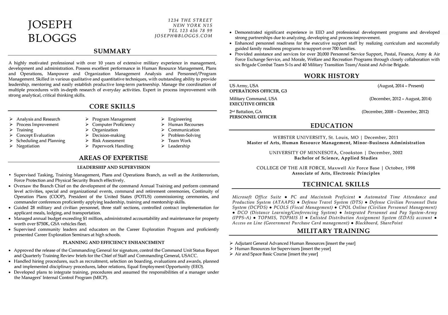 Professional resume service online builder